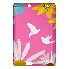 Spring Flower Floral Sunflower Bird Animals White Yellow Pink Blue Amazon Kindle Fire HD (2013) Hardshell Case