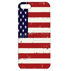 Flag United States United States Of America Stripes Red White Apple iPhone 5 Hardshell Case with Stand