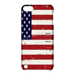 Flag United States United States Of America Stripes Red White Apple iPod Touch 5 Hardshell Case with Stand