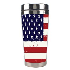 Flag United States United States Of America Stripes Red White Stainless Steel Travel Tumblers