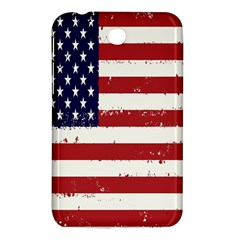 Flag United States United States Of America Stripes Red White Samsung Galaxy Tab 3 (7 ) P3200 Hardshell Case