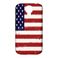 Flag United States United States Of America Stripes Red White Samsung Galaxy S4 Classic Hardshell Case (PC+Silicone)