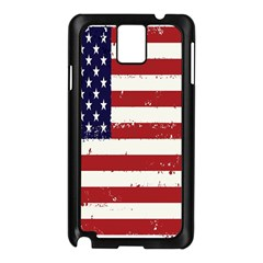Flag United States United States Of America Stripes Red White Samsung Galaxy Note 3 N9005 Case (Black)