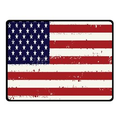 Flag United States United States Of America Stripes Red White Double Sided Fleece Blanket (Small)