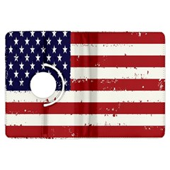 Flag United States United States Of America Stripes Red White Kindle Fire HDX Flip 360 Case