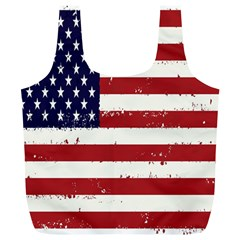 Flag United States United States Of America Stripes Red White Full Print Recycle Bags (L)