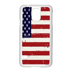 Flag United States United States Of America Stripes Red White Samsung Galaxy S5 Case (white)