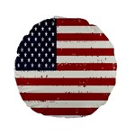 Flag United States United States Of America Stripes Red White Standard 15  Premium Flano Round Cushions Front