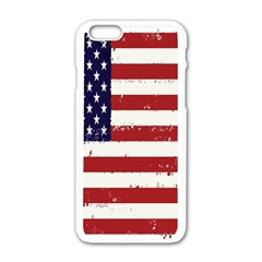Flag United States United States Of America Stripes Red White Apple iPhone 6/6S White Enamel Case