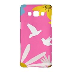 Spring Flower Floral Sunflower Bird Animals White Yellow Pink Blue Samsung Galaxy A5 Hardshell Case