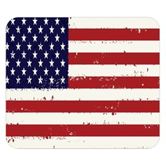 Flag United States United States Of America Stripes Red White Double Sided Flano Blanket (Small)