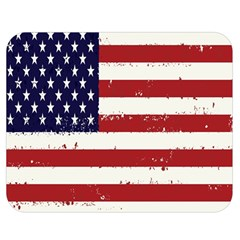 Flag United States United States Of America Stripes Red White Double Sided Flano Blanket (Medium)