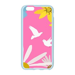 Spring Flower Floral Sunflower Bird Animals White Yellow Pink Blue Apple Seamless iPhone 6/6S Case (Color)