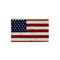 Flag United States United States Of America Stripes Red White Cosmetic Bag (xs)