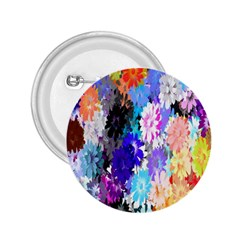 Flowers Colorful Drawing Oil 2 25  Buttons
