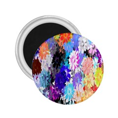 Flowers Colorful Drawing Oil 2 25  Magnets