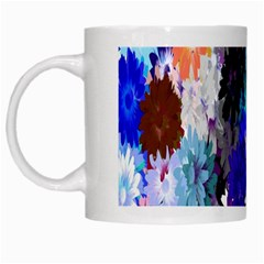 Flowers Colorful Drawing Oil White Mugs