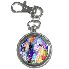 Flowers Colorful Drawing Oil Key Chain Watches