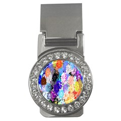 Flowers Colorful Drawing Oil Money Clips (CZ)