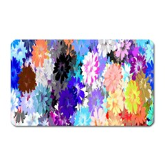 Flowers Colorful Drawing Oil Magnet (Rectangular)