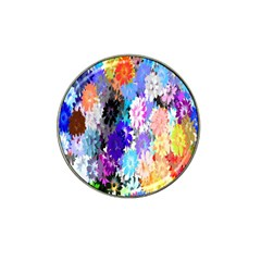 Flowers Colorful Drawing Oil Hat Clip Ball Marker (10 Pack)