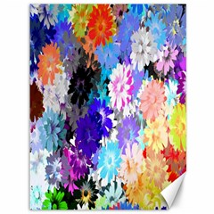 Flowers Colorful Drawing Oil Canvas 36  X 48
