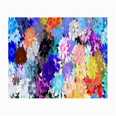 Flowers Colorful Drawing Oil Small Glasses Cloth (2 Side)