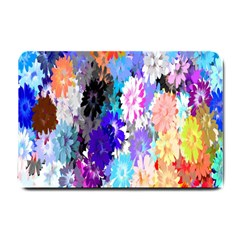 Flowers Colorful Drawing Oil Small Doormat