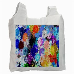 Flowers Colorful Drawing Oil Recycle Bag (Two Side)
