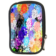 Flowers Colorful Drawing Oil Compact Camera Cases