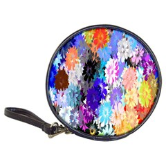 Flowers Colorful Drawing Oil Classic 20 Cd Wallets