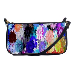 Flowers Colorful Drawing Oil Shoulder Clutch Bags