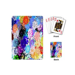 Flowers Colorful Drawing Oil Playing Cards (Mini)