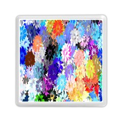 Flowers Colorful Drawing Oil Memory Card Reader (square)