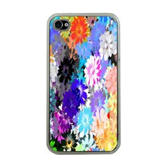 Flowers Colorful Drawing Oil Apple iPhone 4 Case (Clear)