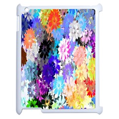 Flowers Colorful Drawing Oil Apple iPad 2 Case (White)