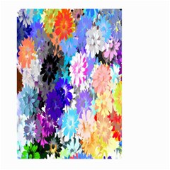 Flowers Colorful Drawing Oil Large Garden Flag (two Sides)