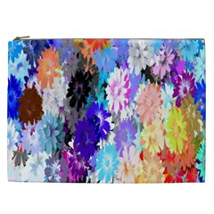 Flowers Colorful Drawing Oil Cosmetic Bag (xxl)