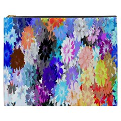 Flowers Colorful Drawing Oil Cosmetic Bag (XXXL)