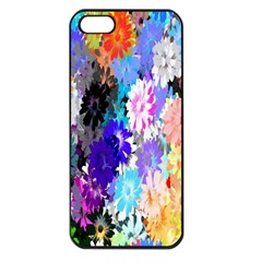 Flowers Colorful Drawing Oil Apple Iphone 5 Seamless Case (black)