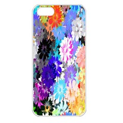 Flowers Colorful Drawing Oil Apple Iphone 5 Seamless Case (white)