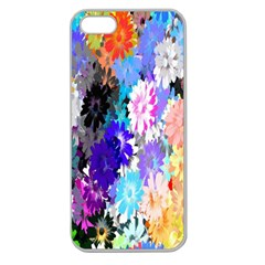 Flowers Colorful Drawing Oil Apple Seamless iPhone 5 Case (Clear)