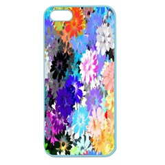Flowers Colorful Drawing Oil Apple Seamless iPhone 5 Case (Color)