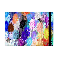 Flowers Colorful Drawing Oil Apple iPad Mini Flip Case
