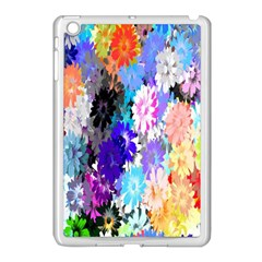 Flowers Colorful Drawing Oil Apple iPad Mini Case (White)