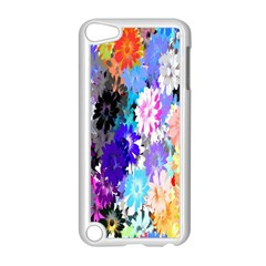 Flowers Colorful Drawing Oil Apple iPod Touch 5 Case (White)