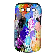 Flowers Colorful Drawing Oil Samsung Galaxy S III Classic Hardshell Case (PC+Silicone)