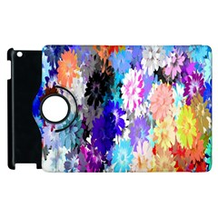Flowers Colorful Drawing Oil Apple iPad 2 Flip 360 Case