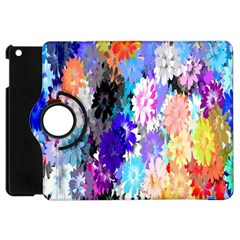 Flowers Colorful Drawing Oil Apple Ipad Mini Flip 360 Case