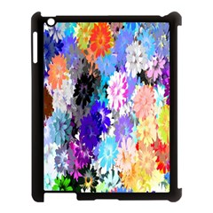 Flowers Colorful Drawing Oil Apple iPad 3/4 Case (Black)